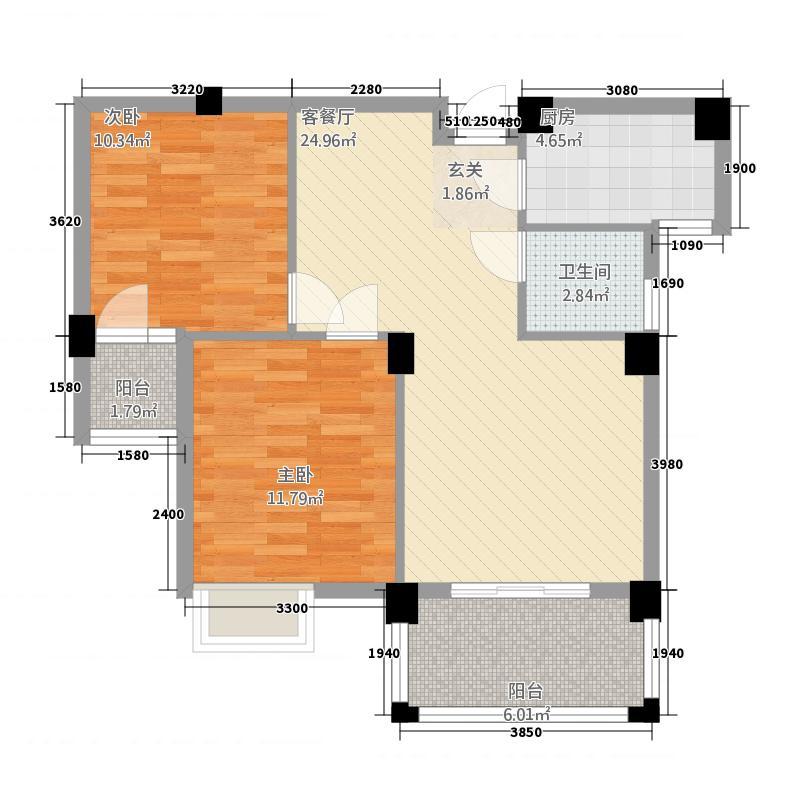 君临天下13227.45㎡户型3室2厅2卫1厨