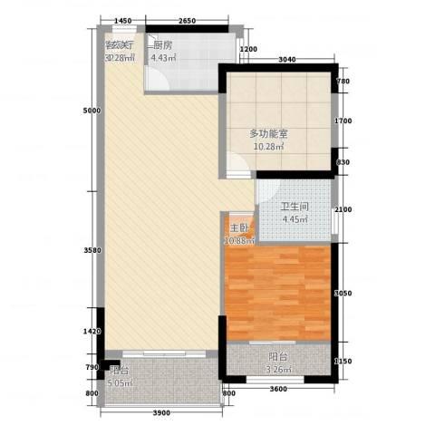 福泰海湾新城1室1厅1卫1厨22282.00㎡户型图