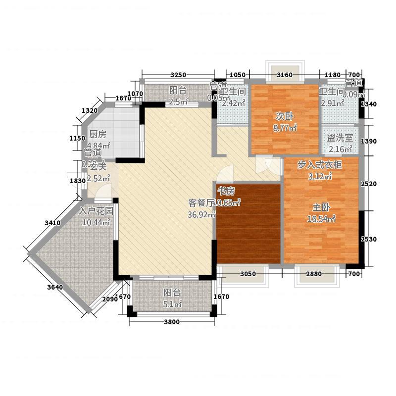 联城新世纪13.20㎡1栋3单元3D2室户型2室2厅1卫