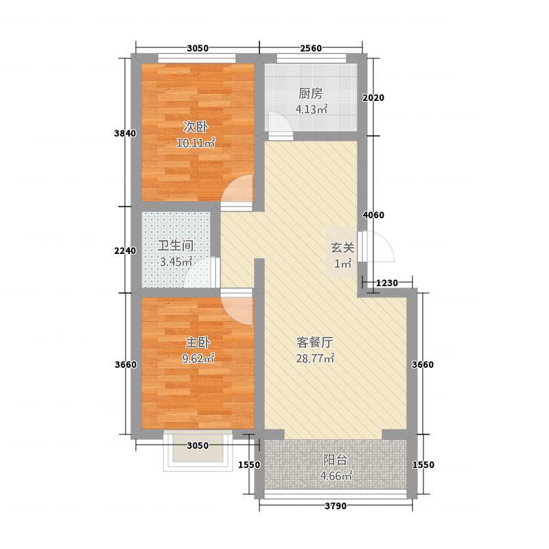 双龙花苑285.20㎡B图库・户型2室1厅1卫