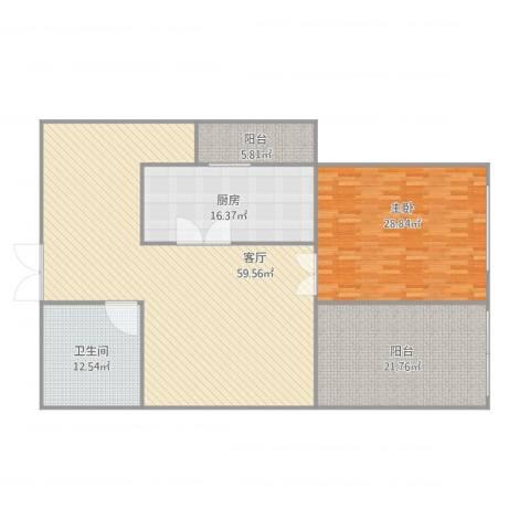 太阳园1室1厅1卫1厨191.00㎡户型图