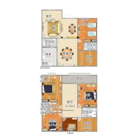 天合家园4室4厅4卫1厨288.00㎡户型图
