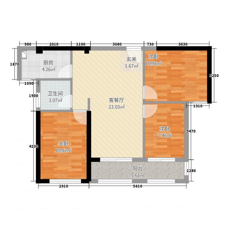 锦绣御珑湾286.72㎡户型3室2厅1卫1厨