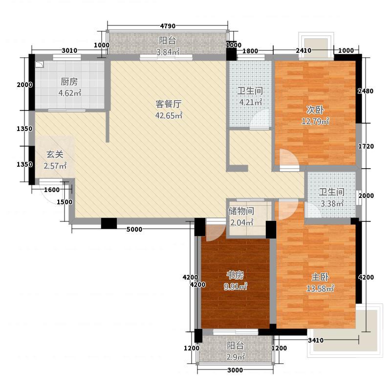 巢湖嘉和花园13383514.00㎡13383503434fc59b07315db户型3室2厅2卫1厨