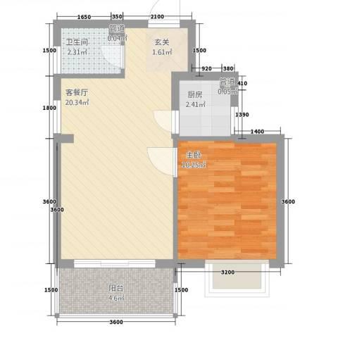 新城海世界1室1厅1卫1厨854.00㎡户型图