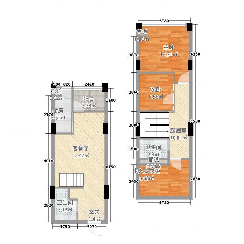 仙鹤湾公寓1157218.25㎡10001572_718172_副本户型3室2厅1卫1厨
