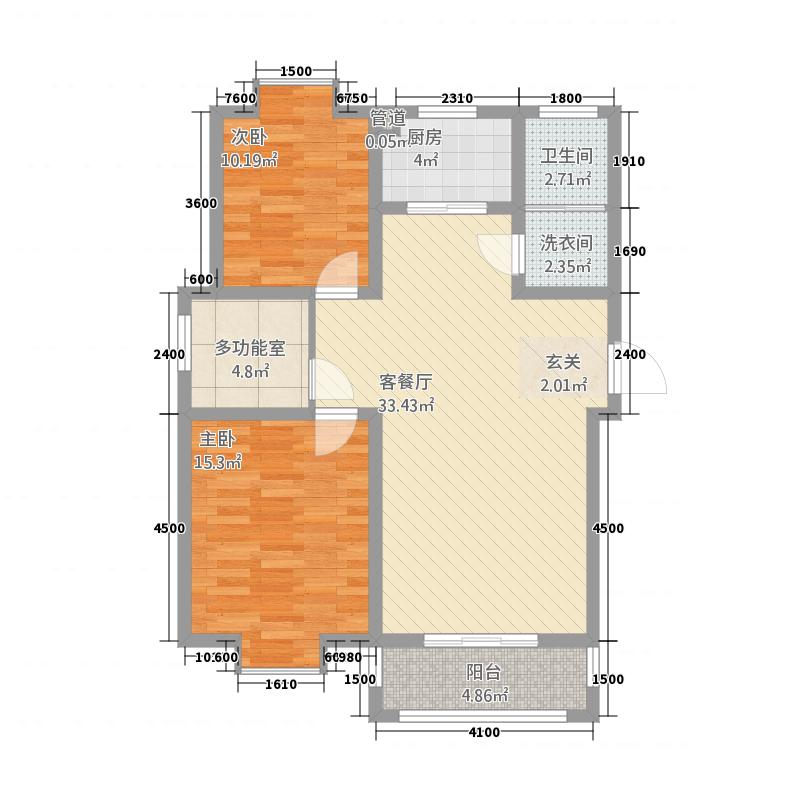 一品和�1211.20㎡二期12#楼E户型3室2厅1卫1厨