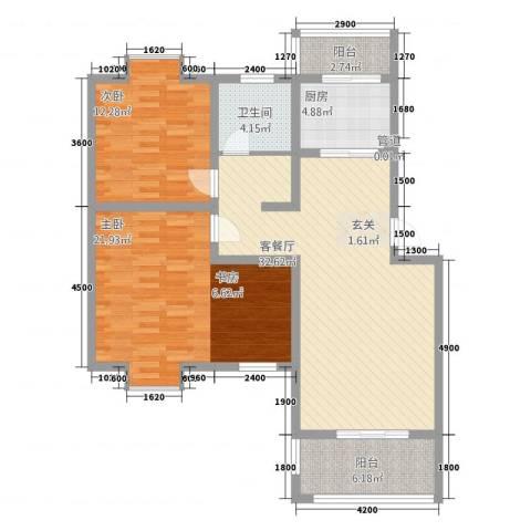 一品和�2室1厅1卫1厨158.00㎡户型图