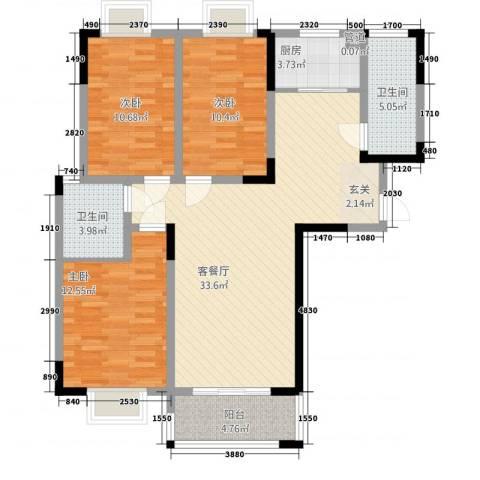 众发世纪城3室1厅2卫1厨1424123.00㎡户型图