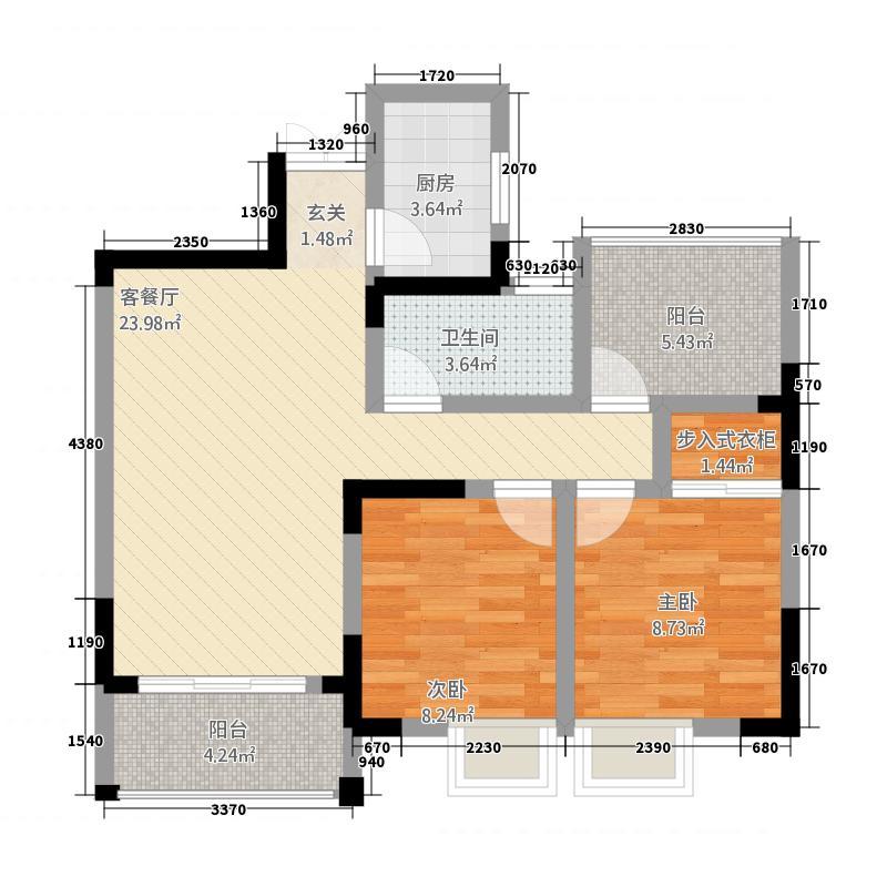 霍邱御龙湾388.16㎡D3户型3室2厅1卫1厨