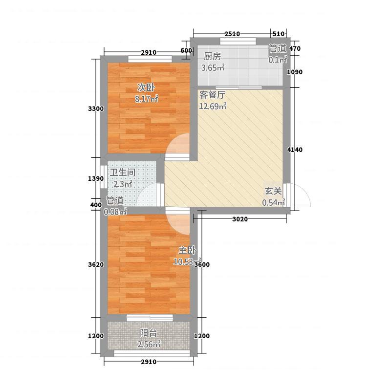 美高美花园32153.52㎡hx户型2室1厅1卫