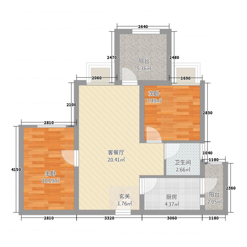 永川协信中心2376.20㎡2、3号楼+可变空间户型