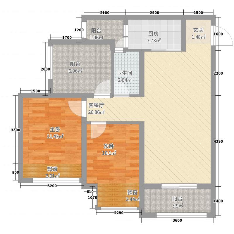 永川协信中心2385.20㎡2、3号楼+可变空间户型