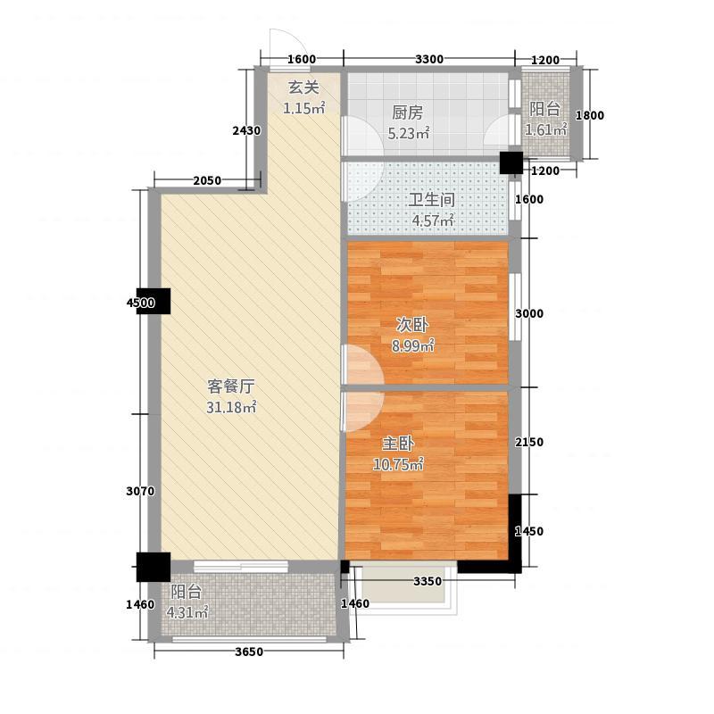 万达中央广场125744.20㎡12574432001049户型2室2厅1卫1厨
