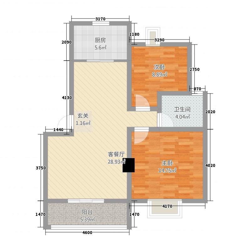 东盛佳园2211828.25㎡户型2室2厅1卫1厨