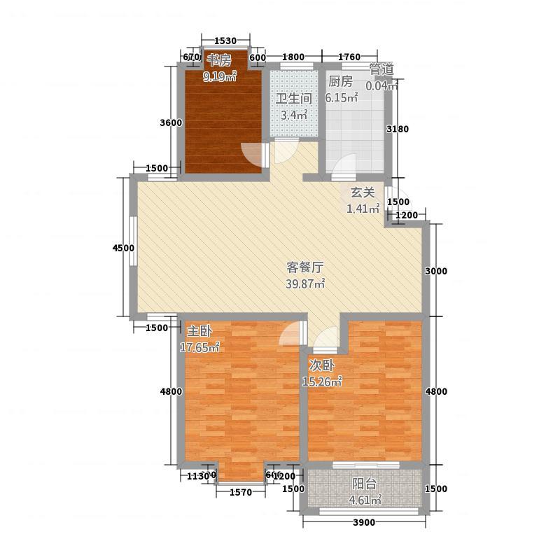 一品和�11118.20㎡二期11#、14#、16#、17#、18#、22#楼G户型3室2厅1卫1厨