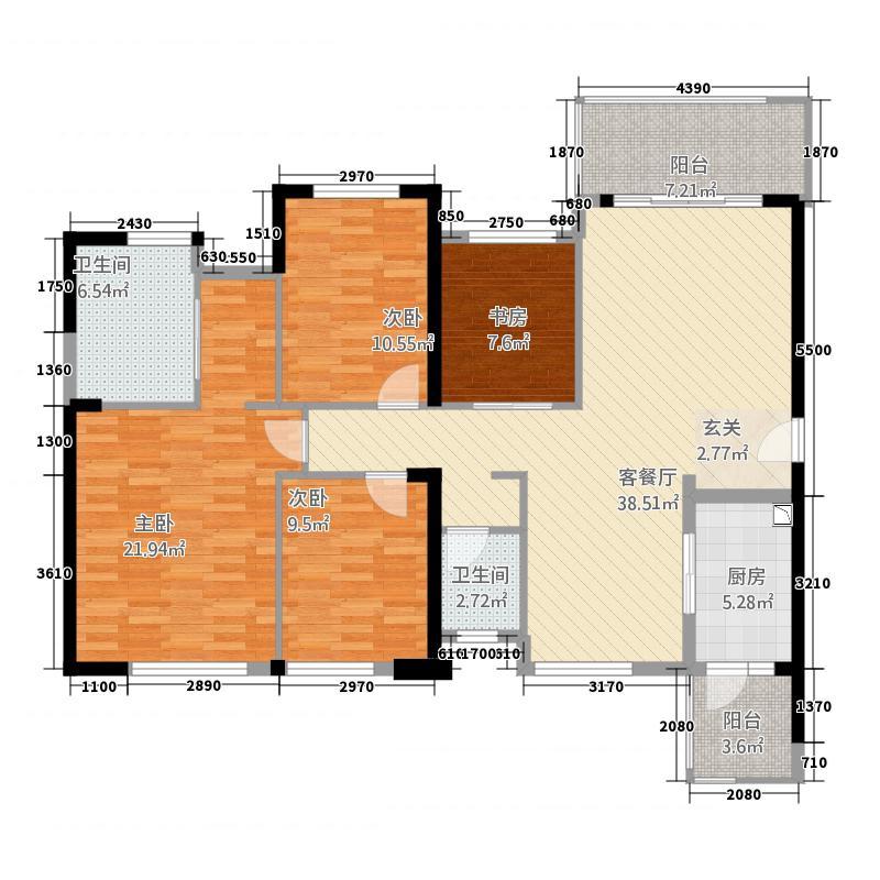 海峡国际湾区56125.71㎡5栋6栋1、8号户型4室2厅2卫