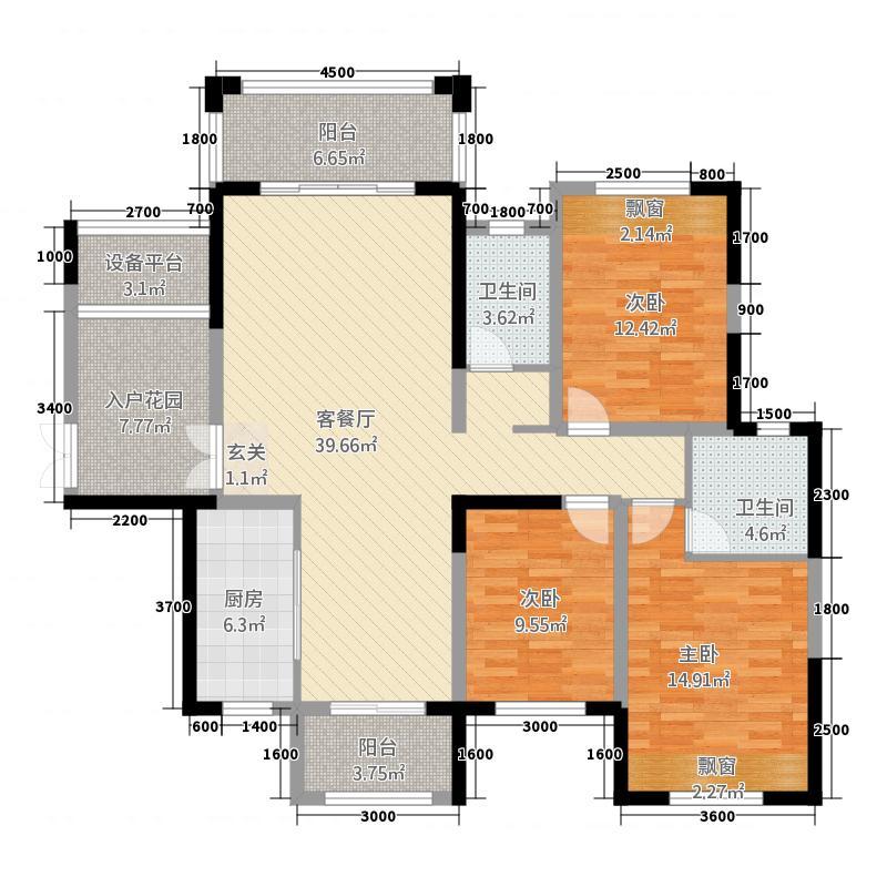 南苑・上和2期22137.81㎡F2户型3室2厅2卫1厨