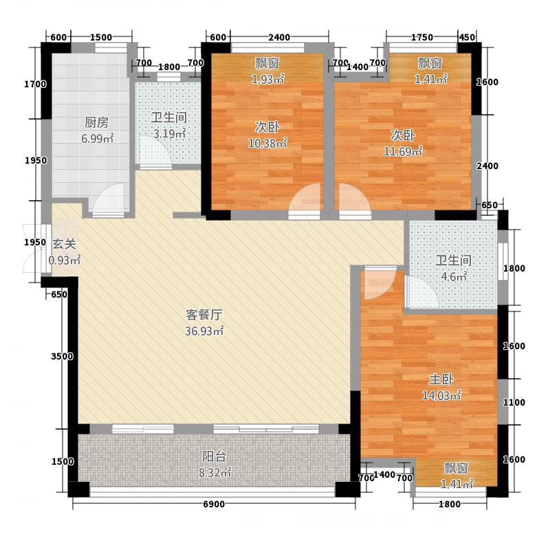 南苑・上和2期22128.52㎡L2户型3室2厅2卫1厨