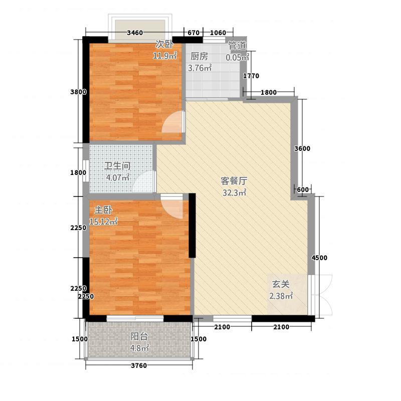 明城大厦户型2室