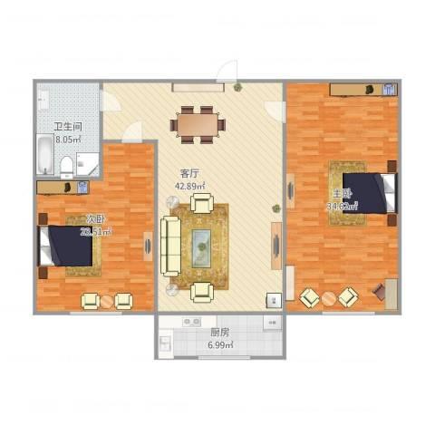 石葵路2室1厅1卫1厨153.00㎡户型图