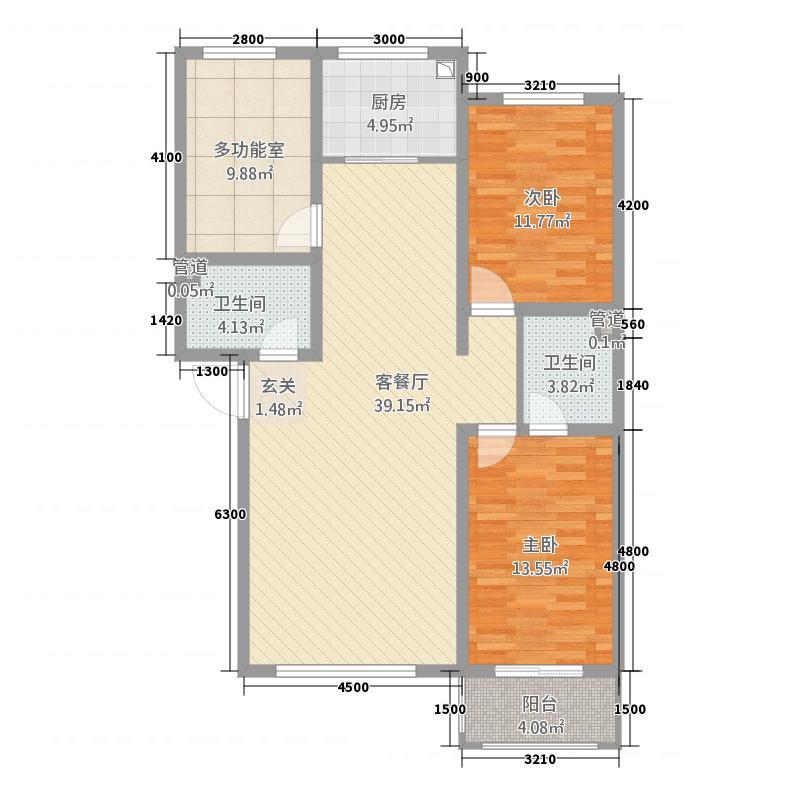 秦水嘉苑32118.20㎡C户型3室2厅2卫1厨