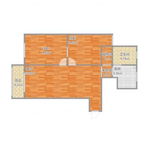广联新苑14号702室2室1厅1卫1厨101.00㎡户型图