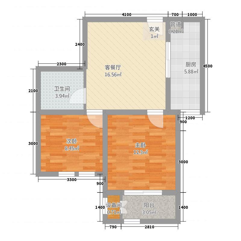 泉山逸品227.22㎡标准层D2-2户型2室1厅1卫1厨