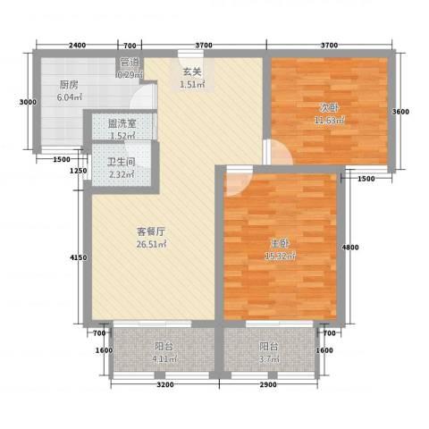 泉山逸品2室2厅1卫1厨71.44㎡户型图