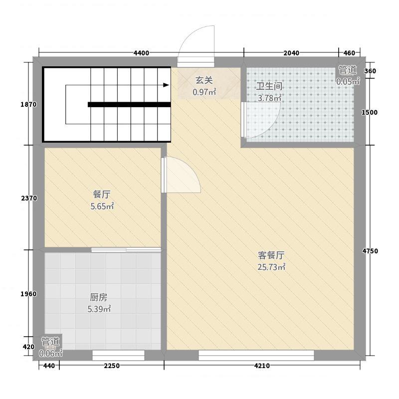 华溪龙城二期214.14㎡B2户型2室2厅2卫1厨