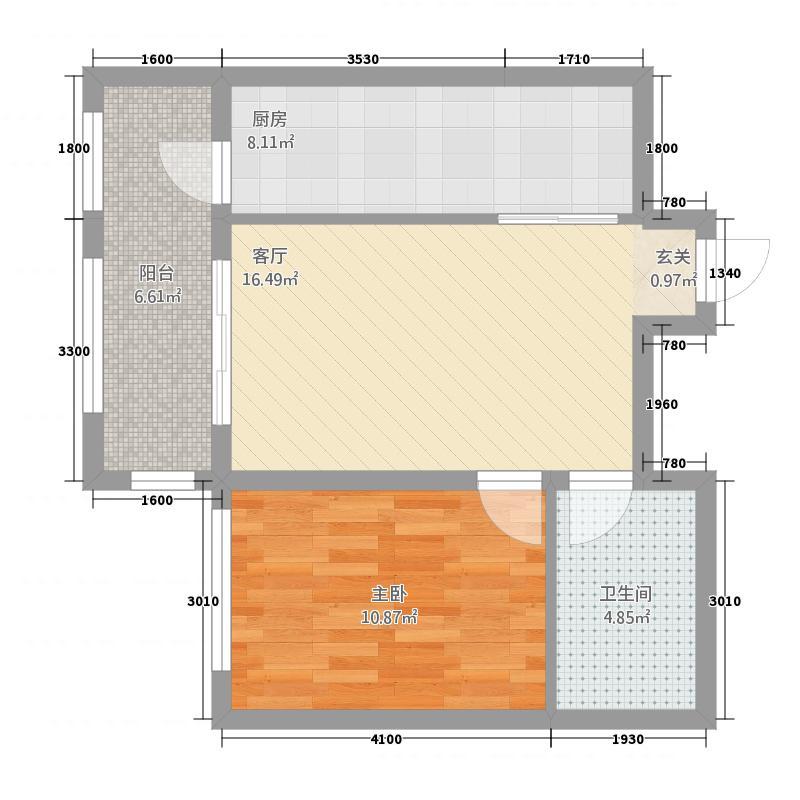 学林茗苑171.81㎡户型1室2厅1卫1厨