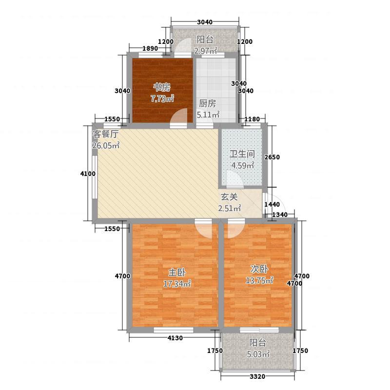 金色豪庭133573656.00㎡13305736594f4ef15bec97b户型2室2厅1卫1厨