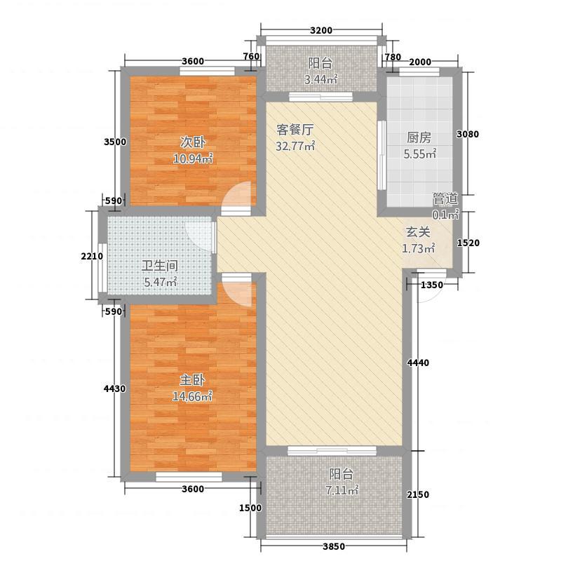 金色豪庭133573456.00㎡13305739454f4ef279e4d户型2室2厅1卫1厨