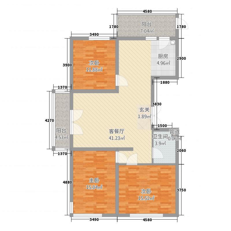 公安小区3141.17㎡户型3室2厅2卫1厨