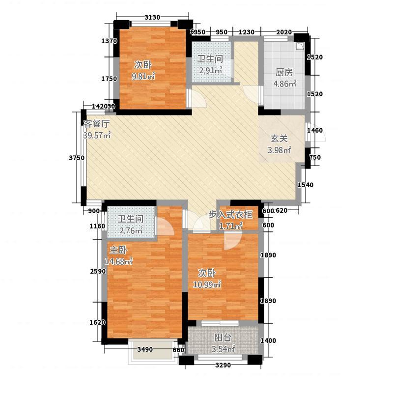 金纱馨苑13.00㎡-08户型3室2厅2卫