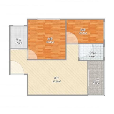 天一新村2室1厅1卫1厨103.00㎡户型图