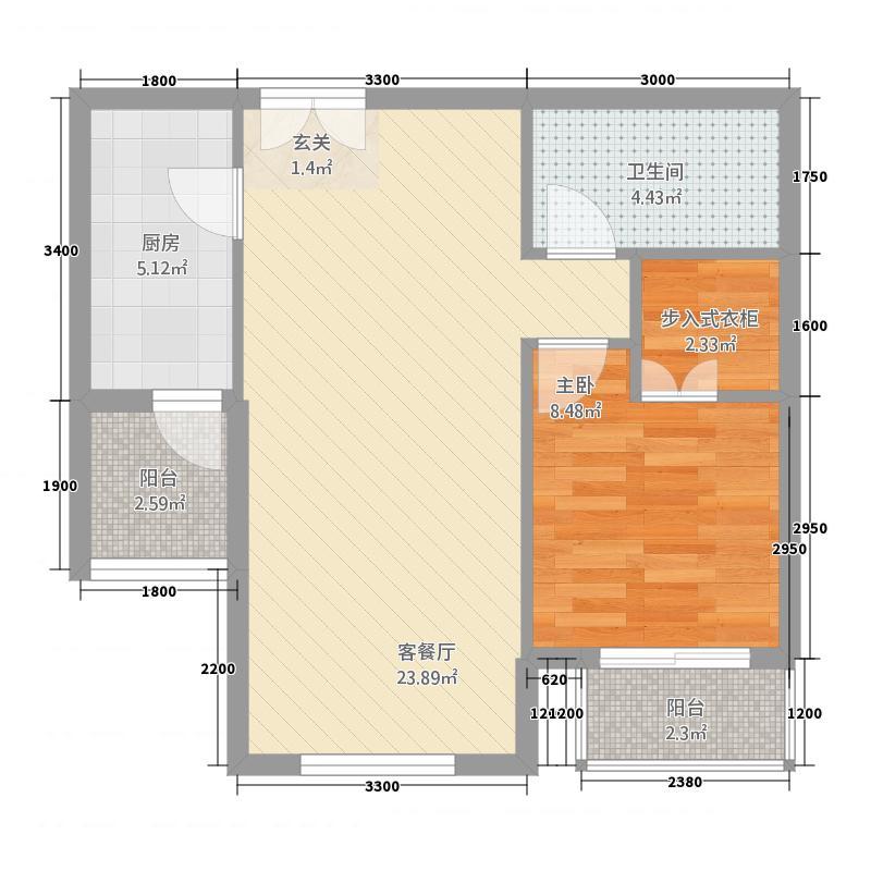 星光大道467872.19㎡4、6、7、8、10号楼B户型2室1厅1卫1厨