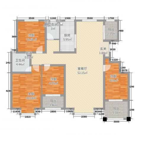 豪门又一城4室1厅2卫1厨5165.00㎡户型图