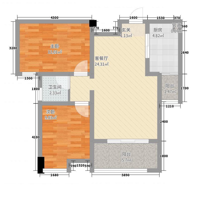 牡丹名城22171.52㎡-()户型2厅1卫