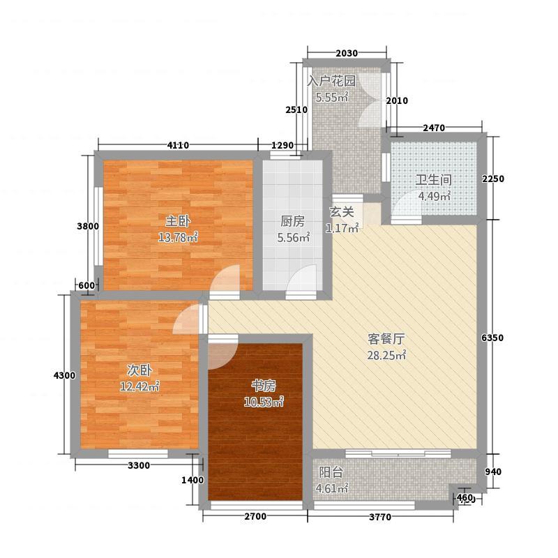 江能佳园312.20㎡户型3室2厅1卫1厨