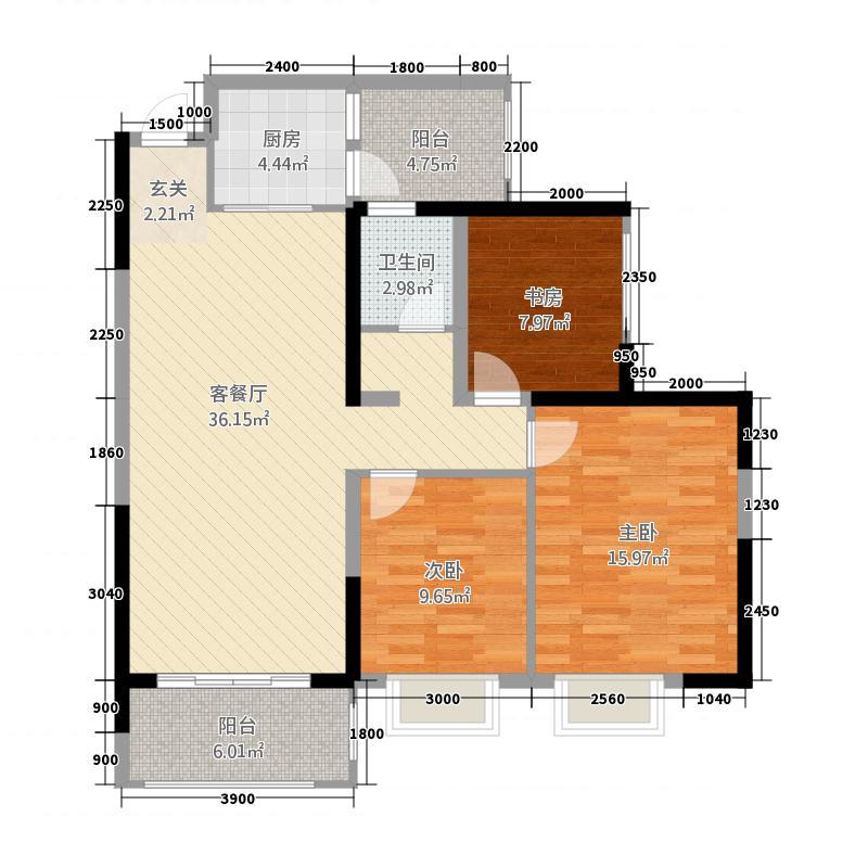 成源华府12316.62㎡1#2#3#楼C户型3室2厅1卫1厨