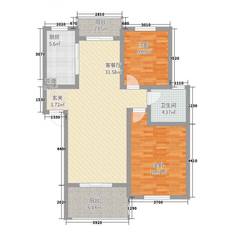 金色豪庭1335746.25㎡13305740694f4ef2f户型2室2厅1卫1厨