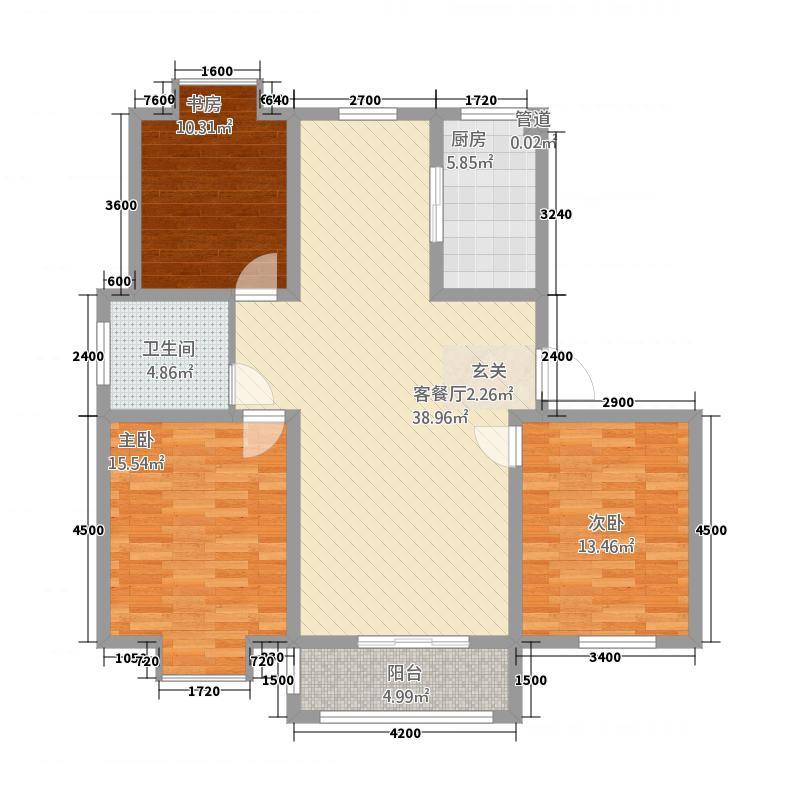 一品和�78111.20㎡二期7#、8#、9#、14#、19#、21#楼H户型3室2厅1卫1厨