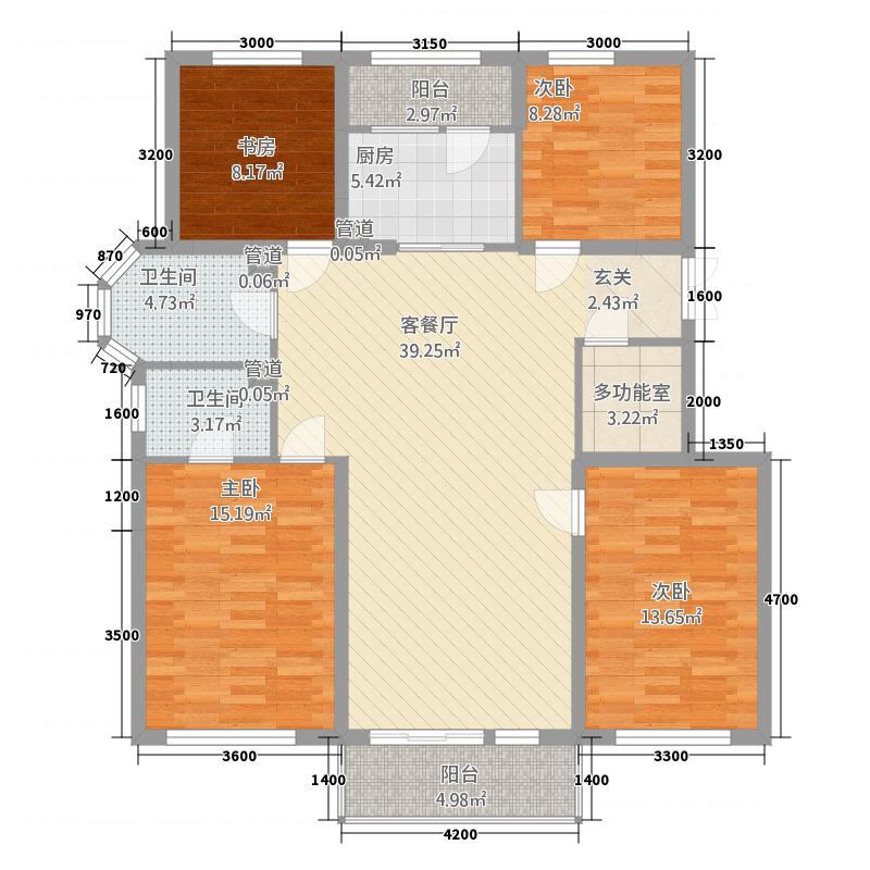 金地铁西檀府2138.20㎡S2户型4室2厅2卫1厨