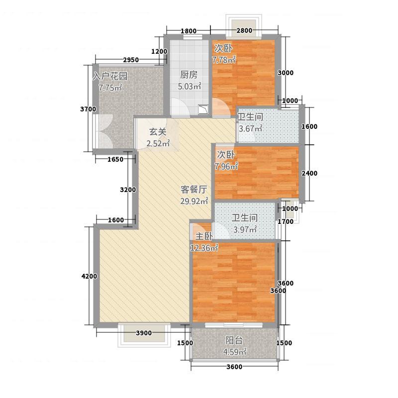 浅水湾・中央公园1112.20㎡F1户型3室2厅2卫