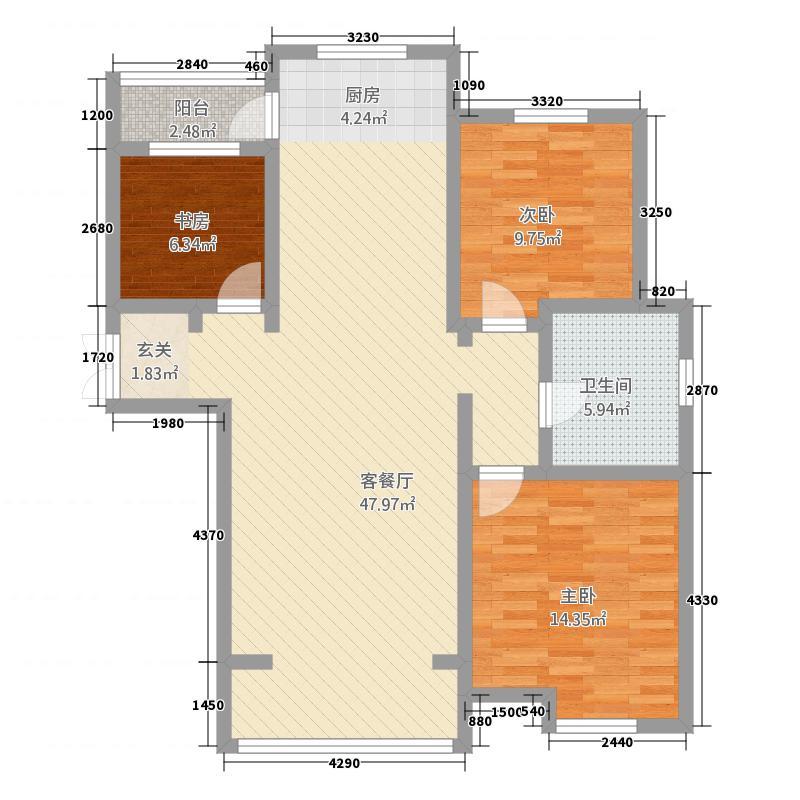 营建・梧桐丽景三期123.50㎡户型