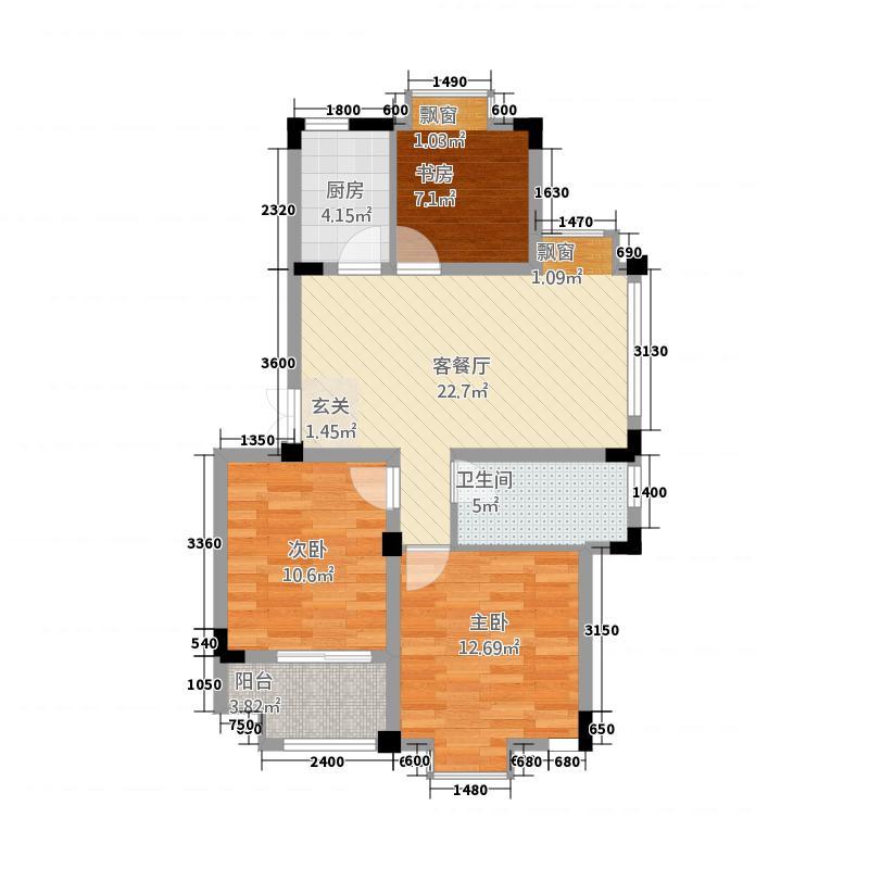 东方华庭5382.20㎡WD5户型3室2厅1卫1厨