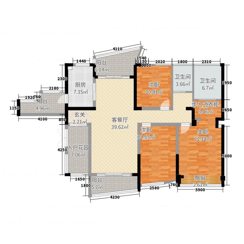 中环丰锦358155.19㎡3、5、8、9号楼标准层B3户型3室2厅2卫2厨