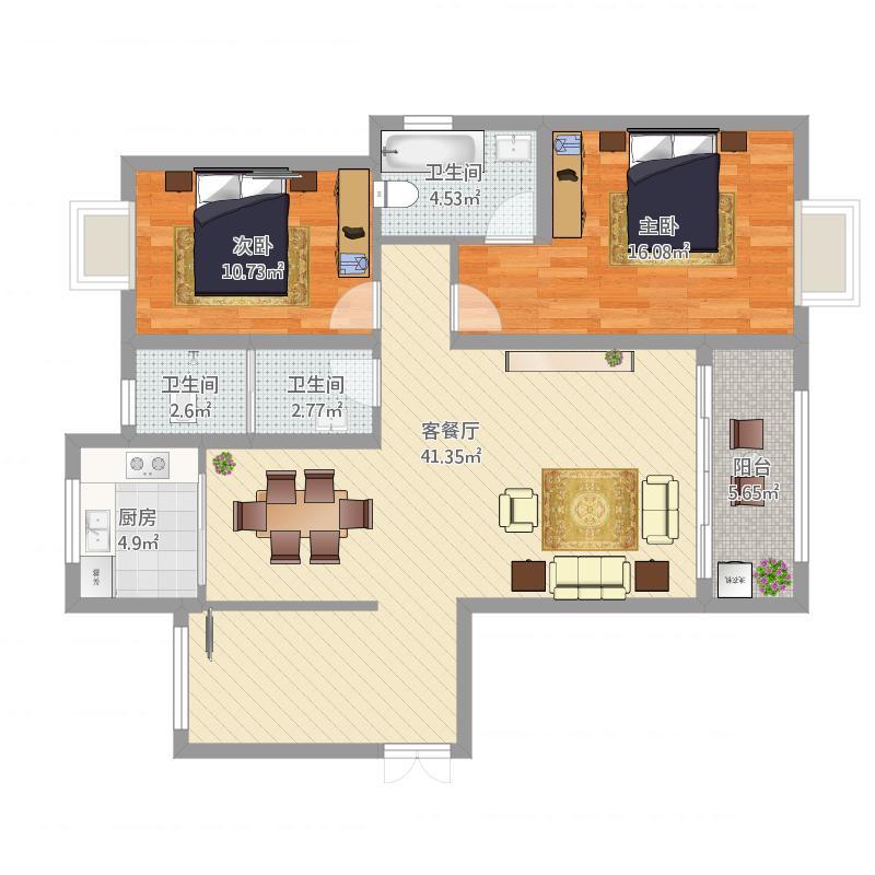 学府翁先生119三室两厅
