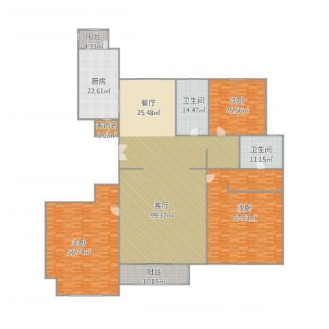 金汉绿港3室1厅2卫1厨433.00㎡户型图